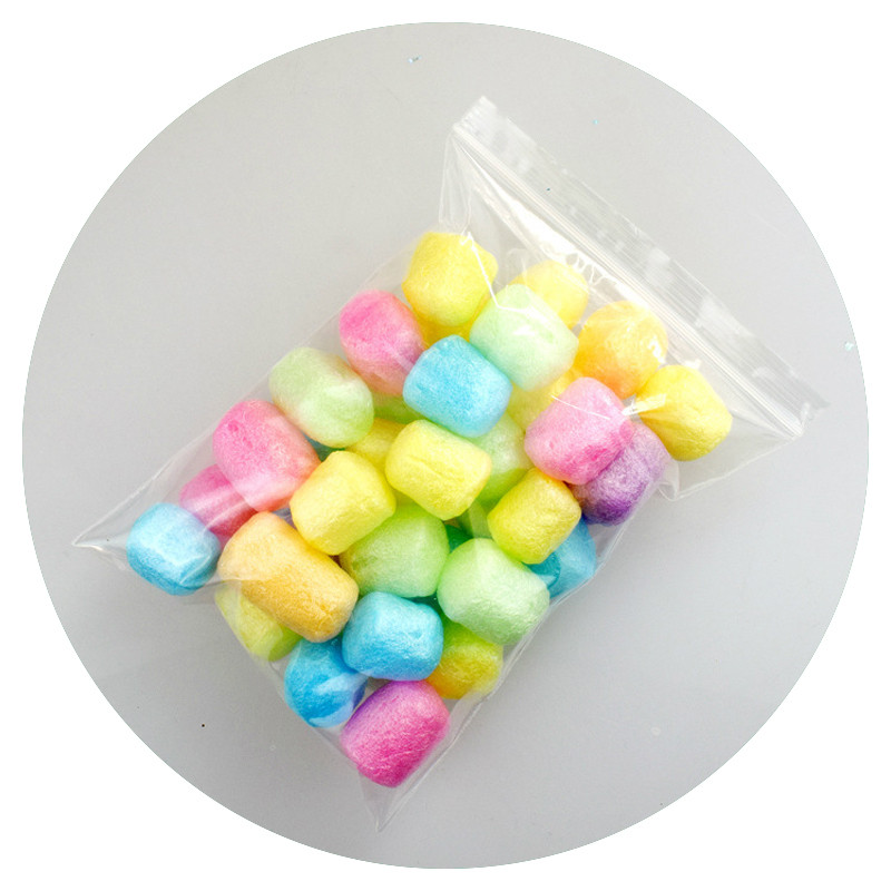 DIY Plasticine Silkworm Shell Plasticine Filler Fluffy Charms Slime Additives Release Toy Pearl Clay For Slime Toys For Children
