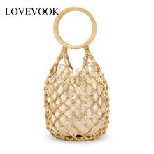 Lovevook bamboo bags female summer beach bags for travel han