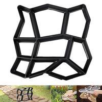 Plastic Manually Paving Floor Path Maker Mould Concrete Mold Reusable DIY Paving Durable for Garden Lawn