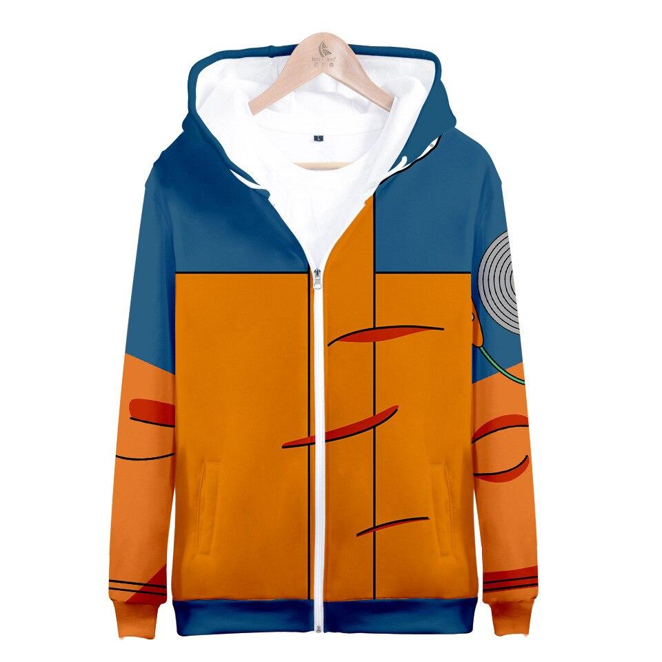 Naruto Uzumaki Cosplay Zip Up Hoodies For Men Women Kid 3D Print Hooded Sweatshirt Clothes Clothing Anime Jacket Child Boy Girl