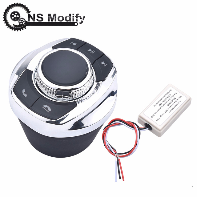 NS تعديل 8 Key وظائف سيارة لاسلكية عجلة القيادة التحكم زر شكل كوب مع مصباح ليد لسيارة أندرويد الملاحة لاعب
