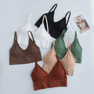 Sexy Lingerie Bra Underwear Tube-Top Camis Brassiere Push-Up-Bra Bralette Fitness Cotton