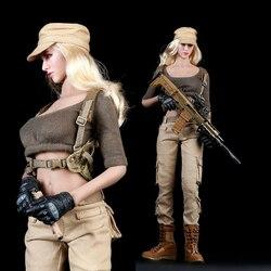 Nowy 1/6 kobiet Shooter garnitury zestaw kostium ubrania F Phicens ciało blady kolor skóry 12