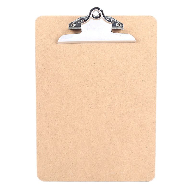 Vintage A4 File Clipboard Rounded Corners Drawing Writing Board Heavy Duty Clip Menu Board With Hanging Hole (8 Pcs)