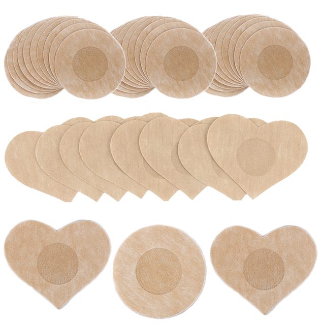 50pcs Women's Invisible Breast Lift Tape Overlays on Bra Nipple Stickers Chest Stickers Adhesivo Bra Nipple Covers Accessories 4