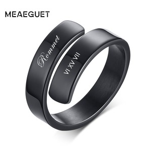 Custom Double Name Ring For Wo