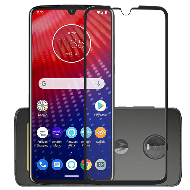 3D 9H Tempered Glass For Moto Z4 P40 One Zoom Action Screen protector for Moto G7 E6 E4 G6 Plus Play Protective Film Glass Guard image