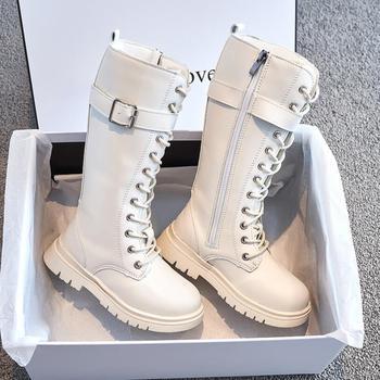 Dzieci długie buty dziewczyny kolana moda dzieci skarpetki śnieg buty 2020 jesień zima księżniczka dziewczyny buty sportowe dziecko trampki tanie i dobre opinie Unisex RUBBER CN (pochodzenie) 7-12m 13-24m 25-36m 3-6y 7-12y 12 + y Platforma Moda buty Mieszkanie z Cotton Fabric Okrągły nosek
