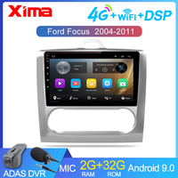 XIMA 9 Inch 2 DIN Android 9.0 GPS Navigation Car Radio Multimedia Player For 2004 2005 2006 2011 Ford Focus Exi AT