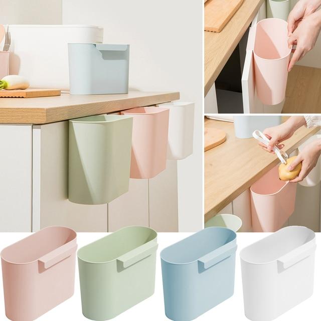 Mega Deal 4fd43 Aa Kitchen Hanging Trash Can Small Waste Bin Trash Bins For Kitchen Bedroom Bathroom Cicig Co