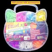 Toys Loom Bracelet Rubber-Bands Craft Kids-Kits DIY Girl Children for Butterfly Toy-Hook