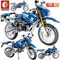 SEMBO Новый 799 шт город мото гоночный мотоцикл строительные блоки техника мотоцикл автомобили кирпичи игрушки подарки для детей - фото