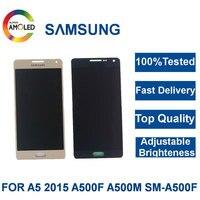 100% Testado LCD Super AMOLED Para Samsung Galaxy A5 2015 A500 A500F A500FU A500H A500M Display LCD de Tela de Toque Do Telefone digitalizador