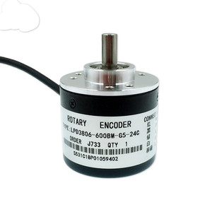 LPD3806-600BM-G5- 24C  600 Pulse Solid Axis AB Phase Incremental Photoelectric Rotary Encoder
