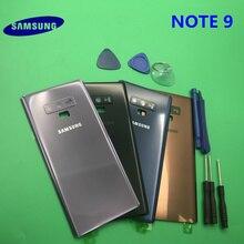 Yedek orijinal yeni NOTE9 arka Panel pil cam arka kapı kapağı arka kamera cam Samsung Galaxy not 9 N960 n960F