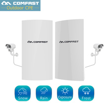 1Km Long Range Wireless Outdoor CPE WIFI Router 2.4Ghz 300Mbps WIFI Repeater Extender Outdoor AP Router AP Bridge Client Router comfast outdoor wireless wifi extender repeater 2 4ghz 300mbps outdoor cpe router wifi bridge waterproof qca9531 access point ap