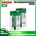 2 шт., сверхмощные сухие аккумуляторы Camelion 9 В 6F22 PPP3 6LR61
