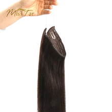 Halo Human Hair Extensions Invisible Hidden Fish Wire Hair Ombre Hairpiece Hidden Crown