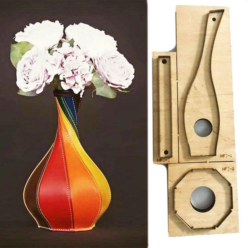 Japon acier lame règle Die Cut acier poinçon vase coupe moule bois meurt pour cuir Cutter pour cuir artisanat 220x50x130x80mm