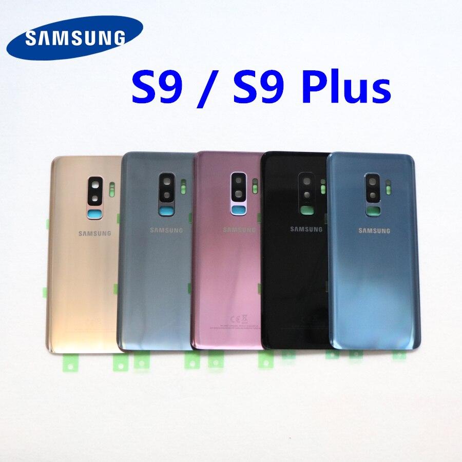 Задняя крышка аккумулятора SAMSUNG Galaxy S9 Plus s9 + G965 SM-G965F G965FD S9 G960 SM-G960F G960FD Задняя стеклянная крышка