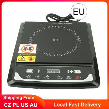 Induction Cooker Adjustable Heated Induction Hob Touch Control Electric Oven Plate Cooktop Hot Pot Stove 2000W induction cooker 15kw high power canteen concave cooker cooktop fry restaurant commercial electric frying stove cooking utensils