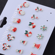 Jewelry-Accessories-Set Snowman-Tree-Bell Christmas-Earrings Cute Santa-Claus New