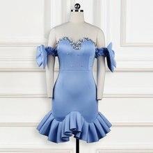Милые платья для женщин оборками из бисера роскошное облегающее