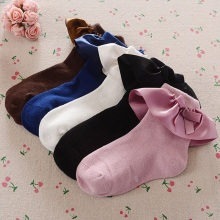 Autumn Winter New Lovely Kids Socks Toddlers Baby Girls Big Bow Ruffles Soft Cotton Little Sock Princess Accessories