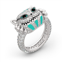 Ретро готический Кристалл Панк мужские кольца трендовые череп мужские кольца ювелирные изделия Аксессуары для Хэллоуина