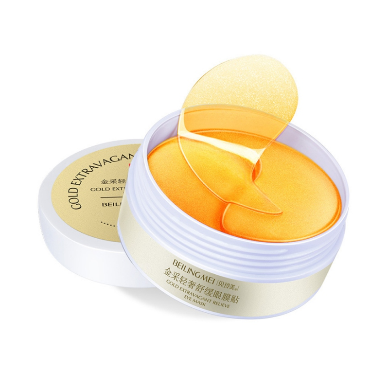 Gold Eye Patch Hydrating Remove Dark Circles Anti-puffiness Anti-aging Gel Eye Mask