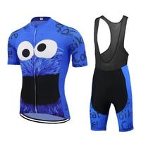 BÁNH Xe Đạp mặc NAM Bộ quần áo đạp xe Jersey xanh dương đi Pro đội đi xe đạp quần áo 9D Gel thoáng khí miếng lót MTB maillot ciclismo ba môn phối hợp