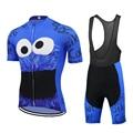 COOKIE de HOMENS usam bicicleta conjunto camisa de ciclismo azul go pro equipe de ciclismo roupas 9D gel almofada respirável MTB maillot ciclismo triathlon