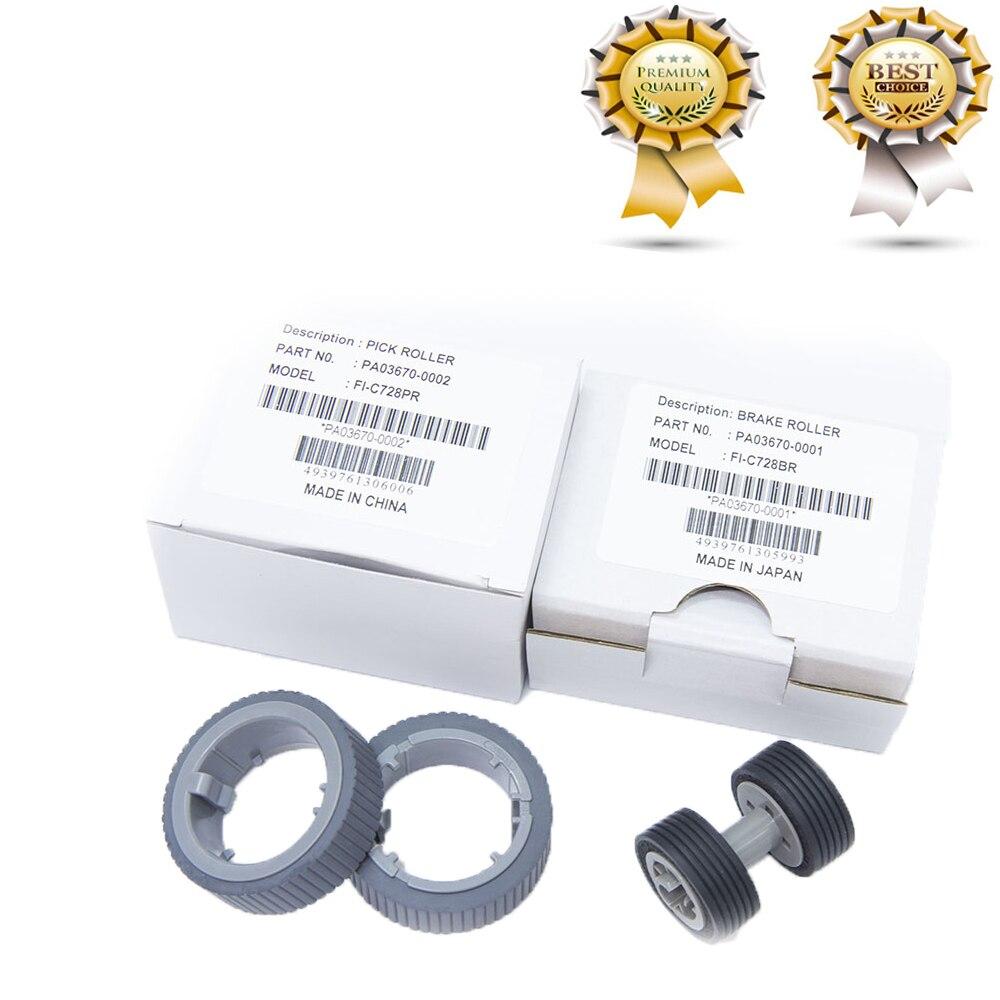 10 X PA03670-0001 PA03670-0002 Brake Pick Roller Fujitsu Fi-7160 Fi-7180 Fi-7260