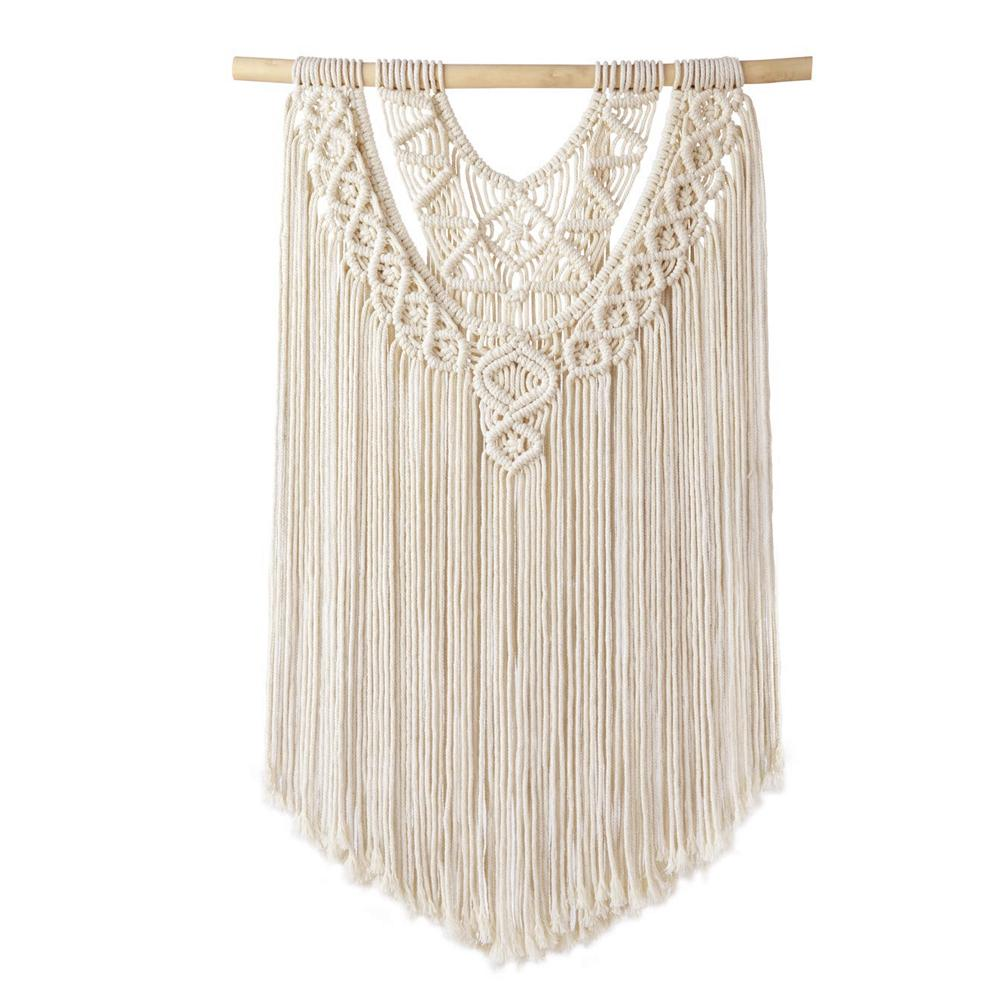 Macrame Wall Hanging Decor Boho Chic Bohemian Woven Home Decoration For Apartment Bedroom Living Room Home Gardening Wall Decora
