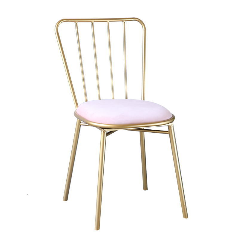 Household Dining Chair Nordic Gold Metal Chair Modern Minimalist Restaurant Chairs Cheap Living Room Furniture Cadeira|Pedicure Chairs| |  -