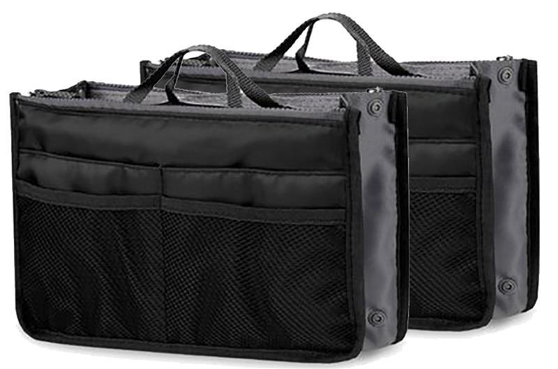 1/2/3pcs Fashion Makeup Bags Large Capacity Nylon Cosmetic Storage Bag Travel Insert Organizer Handbag Purse Makeup Bag Black