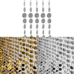 120 см/ПВХ занавески с блестками интерьера Свадебные украшения Шторы праздничные вечерние принадлежности сценический Фон рождественские украшения