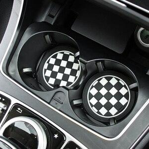 2 шт. силиконовый черный Автомобильный авто водный слот для чашки Нескользящие резиновые коврики Автомобильная защитная накладка аксессуары для салона автомобиля