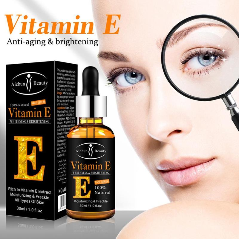 100% Natural Plant Extract Drops Vitamin E Face Serum Whitening Brightening Moisturing Freckle Fine Lines Skin Care Face Serum