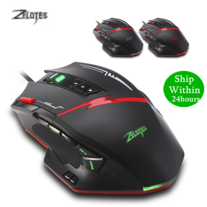 Image 1 - Zelotes C15 computer mouse hand game Gaming Mouse 7000 DPI 13 Programmable Buttons Weight Tuning Cartri gaming mouse