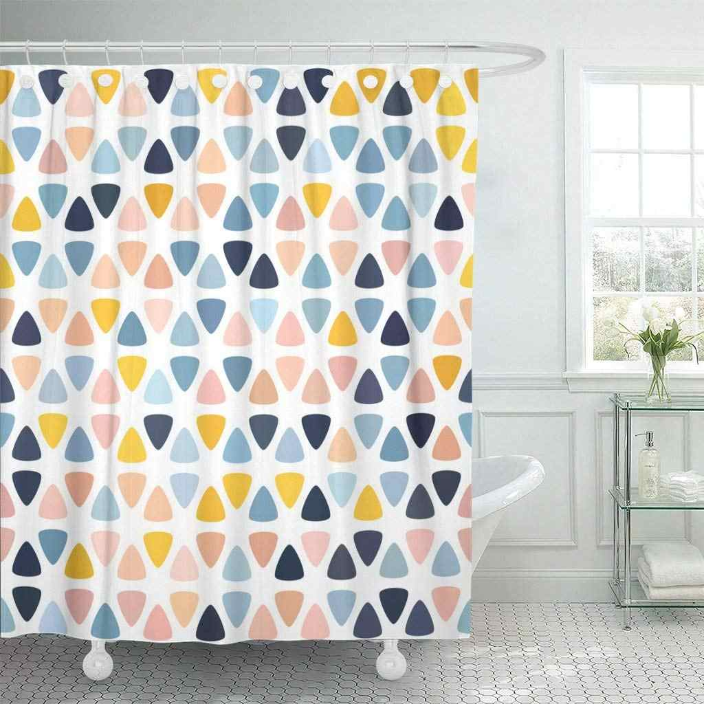 Pastel Pink Navy Blue Salmon Beige Yellow Polka Dot Shower Curtain Waterproof Polyester Fabric 72 X 72 Inches With Hooks Shower Curtains Aliexpress