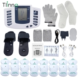 Electronic Tens EMS Muscle Stimulator Pulse Acupuncture Massage Therapy for Back Neck Full Body Massager 16 Pads Russian/English