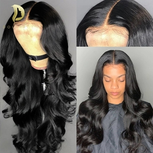 360 lace frontal human hair wig body wave brazilian short long full wavy lace front wigs for black women 30 inch loose wave wig(China)