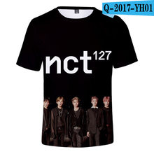 Kpop NCT127 seoul concert same printing t shirt o neck short sleeve t shirt summer style(China)