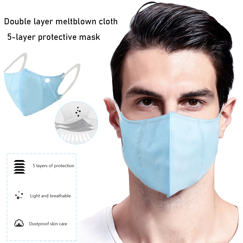 10Pcs Per Pack Adult Disposable Masks 5 Sheets Thick Not Bored Dust-proof Anti-fog Masks For Middle-aged And Elderly