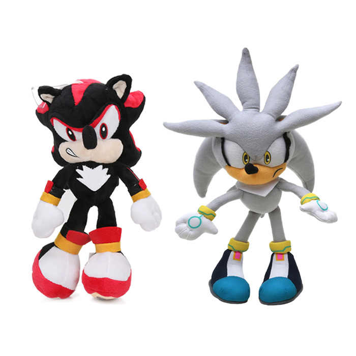 Set Of 2pcs 20 27cm Sonic Toys Super Sonic The Hedgehog Plush Toy Sonic Shadow Knuckles Tails Cute Soft Stuffed Dolls Keychain Aliexpress