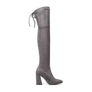 Image 4 - QUTAA 2020 Women Over The Knee High Boots Short Plush Inside Keep Warm Winter Fashion Sexy Hoof Heels Women Boots Size 34 43