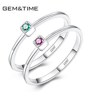 925 sterling silver women's ring For Women Gemstone Promise Ring For Women Wedding Engagement Jewelry ruby red ring(China)