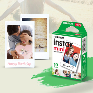 Image 4 - Original fujifilm instax mini filme 10 200 folhas branco papel de foto instantânea para fuji instax mini 9 8 25 90 7s filme + dom gratuito