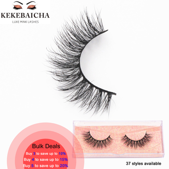 KEKEBAICHA Mink Eyelashes Cruelty Free Eye Lashes Crisscross Thin Band False Eyelashes Handmade Natural Lashes Upper Lash Makeup
